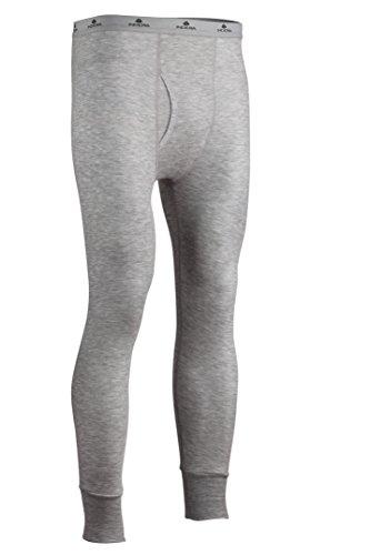 Indera Herren ist groß Zweischichtige Performance Thermo-Unterwäsche Hose mit silvadur, Herren, grau meliert -