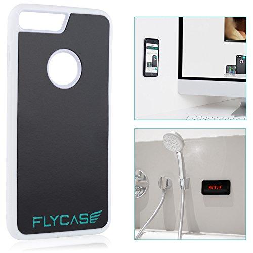 Movoja FLYCASE® [ iPhone-7-Plus Weiß Anti-Gravity-Hülle ] Anti-Schwerkraft-Schutzhülle Selbstklebende Nano-Technologie | PERFEKTE Passform | Goat-Case Anti-Slip Selfie-Hülle FlyCase iPhone 7+