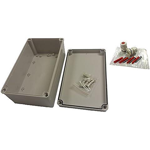 IP66resistente a la intemperie sellado 150x 250x 100mm carcasa ABS para exteriores exterior uso como caja de derivación o equipo almacenaje con interior acero Zintec equipo placa de montaje, montaje en pared y IP68Cable