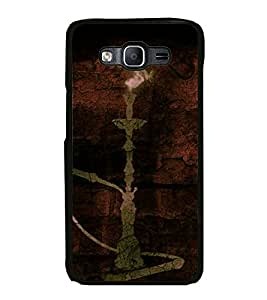 Fiobs High Glossy Designer Phone Back Case Cover Samsung Galaxy J7 J700F (2015) :: Samsung Galaxy J7 Duos (Old Model) :: Samsung Galaxy J7 J700M J700H ( Hook Pot Hook Smoke Design )