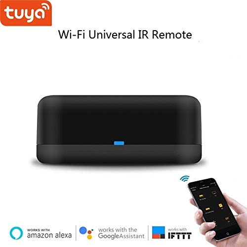 WiFi Smart IR Universal Remote Hub RM Mini, kompatibel mit Alexa, Google Home und IFTTT, Unterstützung der App-Steuerung für Android und IOS, Typ-C-Kabel enthalten, Schwarz