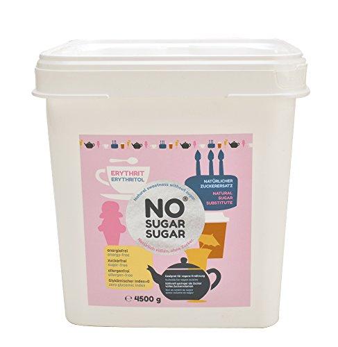 NO SUGAR SUGAR | Erythrit (4,5 kg Eimer) Zuckerersatz Low-Carb & kalorienfrei