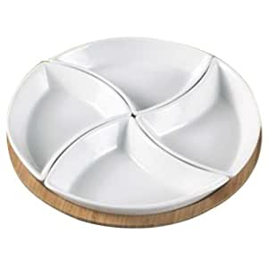 Mom Italy Rose 4-Bowl Snack Serving Tray