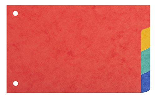 Intercalaires pour fiches bristol carte 180g forever 4 positions - 100x150mm