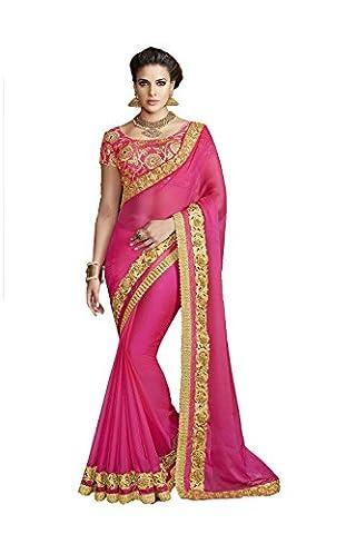 PCC Indian Women Sari Designer Party wear Pink Saree