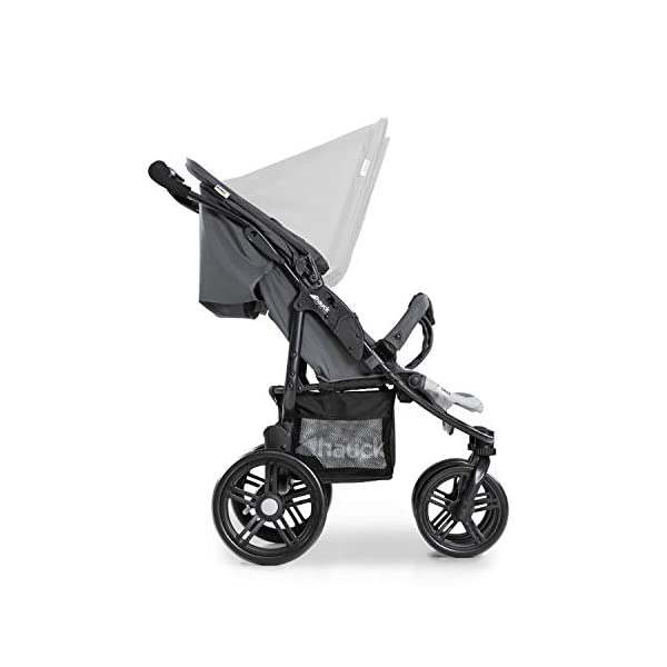 Hauck Roadster Duo SLX Double Pushchair, Grey/Silver, 14 kg Hauck Twin and sibling stroller suitable for two children or new-borns by combining it with the separately available hauck 2 in 1 carrycot, this pushchair holds 2 x 15 kg Fits through doors despite the children sitting side by side, roadster duo slx fits through doors and elevators as it measures 76 cm only Comfy both backrest and footrest come with sun hood, as well as large shopping baskets and are individually adjustable up to lying position; the pushchair is easy to fold away with one hand 13