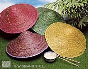 Widmann Stroh Vietkong 1 von 4 Farben Orientalische Hüte & Kopfbedeckung für Kostüme Zubehör