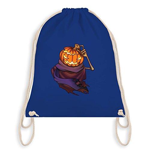 Halloween - Kürbiskopf - Turnbeutel I Gym Bag Royalblau