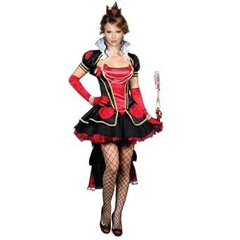Amour Costume reine cœur maléfique Robe avec chapeau et gants