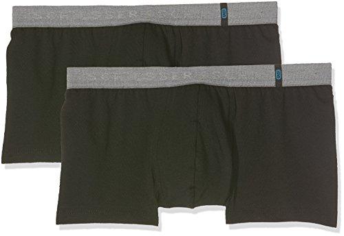 Schiesser Herren Boxershorts  95/5 Shorts, 2er Pack, Schwarz (Schwarz 000), XL (Herstellergröße: 7)