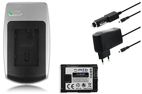 Ladegerät + Akku BP-808 für Canon FS10, FS11, FS21, FS22, FS31, FS40, FS100 Fs22-camcorder
