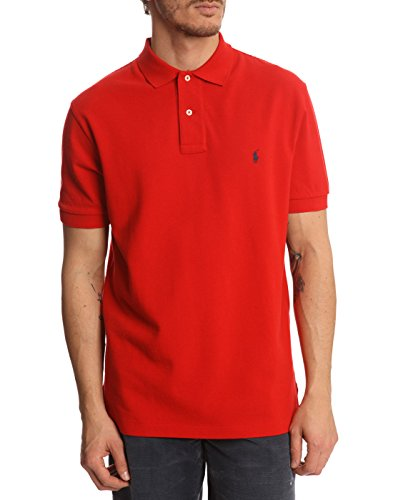 Ralph Lauren Polo Shirt Red Classic Fit Mens Large