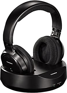 "Thomson Casque sans fil TV ""WHP3001BK"" (Over-Ear, avec station de recharge système, PLL, portée 100 m, 863 MHz, sans fil) Noir (B005I49EH8) 