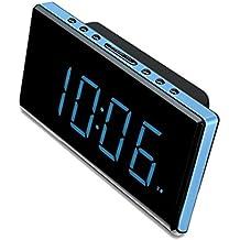 Sunstech FRD28BL - Radio despertador (FM digital, alarma x 2, DST, NAP), color azul