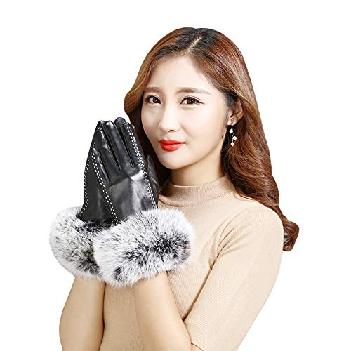 41MCitkdSFL. SS500  - Q_STZP Gloves glove mitten Leather gloves ladies touch screen autumn and winter warm waterproof windproof cycling motorcycle riding plus velvet thick gloves