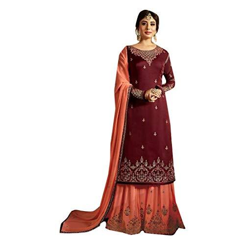 Damen Kleid 8622 Satin Georgette Muslim Punjabi Indische Garara Salwar Kameez Festival