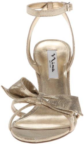 Nina Vianna Femmes Toile Sandales Platino