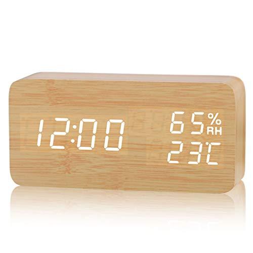 HOTSO Despertadores Digitales LED Control de Voz
