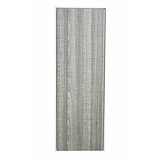 Aquariss Luxury Ash Grey Wall Hung Mounted Bathroom Furniture Tall Storage Unit 350mm