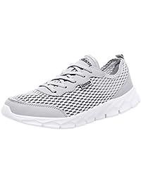 Zapatillas Hombres Mujer Deporte Running Zapatos para Correr Gimnasio Sneakers Deportivas Padel Transpirables Casual Mesh Color