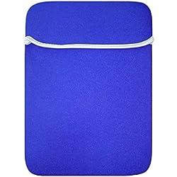 15-17 Pouces Sacoche Etui Pochette Manche Ordinateur Portable pour Ultra Portable Néoprène Housse pc Portable pour Apple/ipad/Samsung/ASUS/Acer/HP/Sony Bleu
