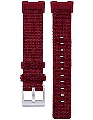 Juman634 Cinturino di Nylon Militare Durevole balistico per la Carica di Fitbit 3 Accessori di Tessuto di Nato Nato di Sport per la Cinghia di Orologio 9 Colori Red