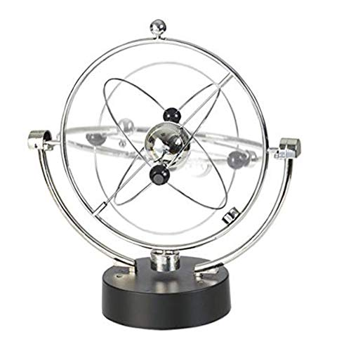 Wagsiyi Globe Orbit Spinner - Kinetic Orbital Revolving Physics Science Toy Gadget Ideal For All Offices, Home Bedroom Decoration Desktop Globe