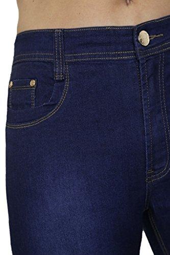 ICE (1529) di Destra dei Jeans Denim Lavato Extensible Blu Blu