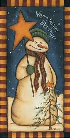 Inverno caldo Benedizioni di Lewis, disponibile Kim-Stampa artistica su tela e carta, Tela, SMALL (10 (Folk Primitive Decor)