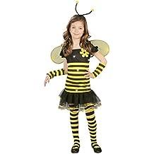 Guirca - Disfraz de abeja, talla 5-6 años, color amarillo (82683)