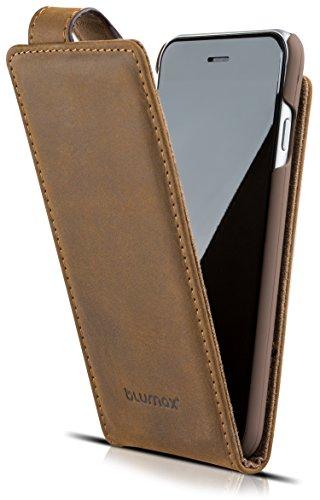 Blumax Flip case Apple iPhone 6 / 6s Handyhülle echt Leder mit Magnetverschluss Handytasche Lederhülle 4,7 Zoll Tasche Braun
