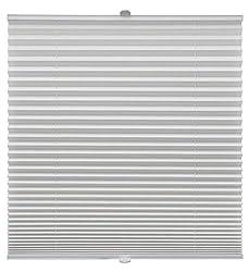 Plissee auf Maß verschiedene Farben für alle Fenster Montage in der Glasleiste Blickdicht mit Spannschuh Sonnenschutzrollo Fensterrollo Plissee Rollo Weiß Breite: 71-80 cm, Höhe: 151-200 cm