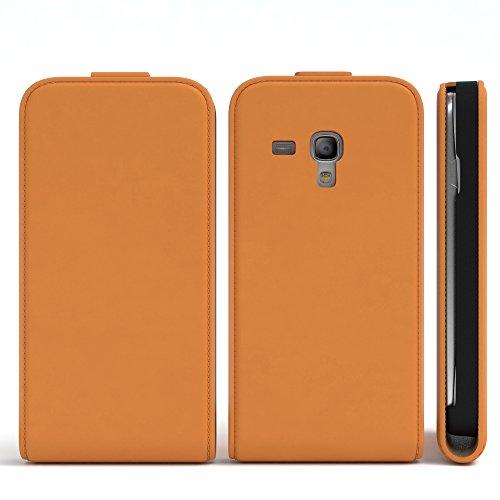 EAZY CASE Flip Case Hülle für Samsung Galaxy S3 Mini Handyhülle - Premium Schutzhülle zum Aufklappen, Klapphülle - Flip Cover in Pink Orange