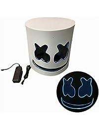 Coziwind DJ Masques Halloween, LED Lumineux Masque Cosplay en Latex de Caoutchouc Masque, Costumes Adulte Casque en Nouveauté pour Costume De Fête Jouer