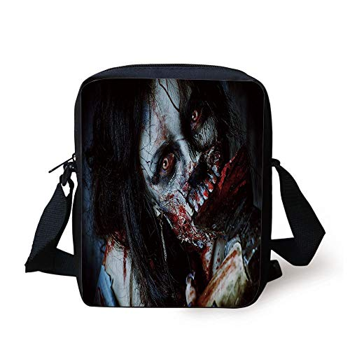 ead Woman with Bloody Axe Evil Fantasy Gothic Mystery Halloween Picture,Multicolor Print Kids Crossbody Messenger Bag Purse ()