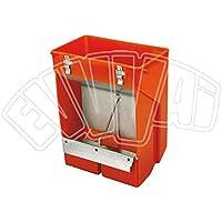 Comedero automático para conejos de plástico/metal, 2 huecos