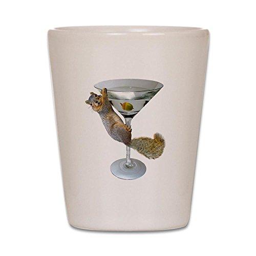 CafePress–Martini Eichhörnchen–Schnapsglas, Einzigartige und Funny Shot Glas weiß