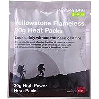Yellowstone Flameless - Hornillo para acampada, color multicolor, talla 50 g