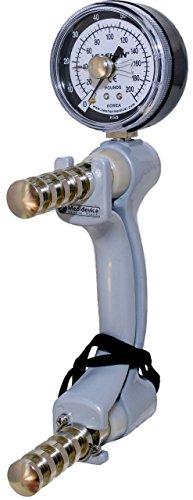 Medición de la fuerza de la mano hasta 90 kg con indicador de fuerza máxima. Este dinamómetro de medición de la mano posibilita una medición exacta de la fuerza de la mano - 90 kg. El envío se realiza en un sólido maletín de resguardo incluídas instr...