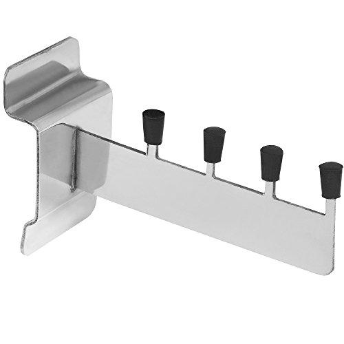 Hill Interiors Stahlbügel für Lamellenwand (Einheitsgröße) (Silberfarben)