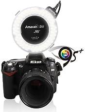 Aputure Amaran Halo AHL-H100 LED Ring Flash Light for Nikon Cameras