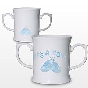 Halbstiefel Loving Tasse, die ein Boy. ideale Geschenke und Geschenk für Hochzeiten, Taufen, Geburtstagen, Weihnachten etc...