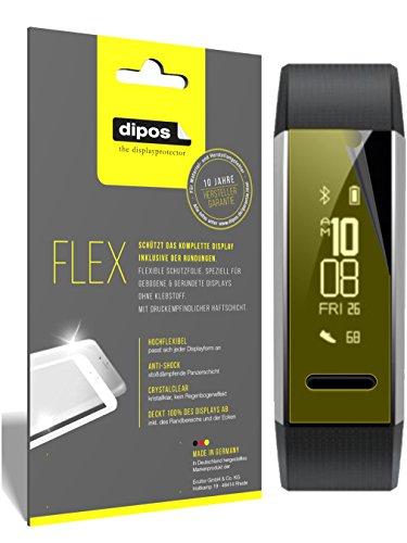 dipos I 3X Schutzfolie 100% passend für Huawei Band 2 Pro Folie (Vollständige Bildschirmabdeckung) Bildschirmschutzfolie