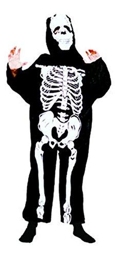 Faschingsfete Halloween Kinder Teenie Skelett Umhang Cape mit Maske Knochenprint, 104-110, 4-5...