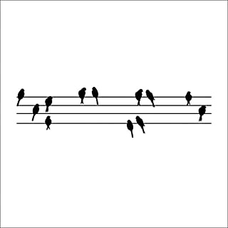 30*115cm Birds On Wires Modern Pvc Diy Vinyl Wall Sticker Removable Mural Home Decor Poster Background by ASTrade