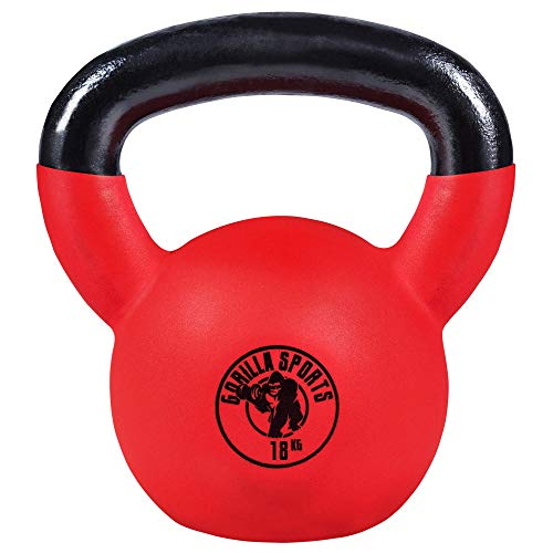 Zoom IMG-2 gorilla sports kettlebell red rubber