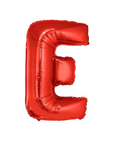 Globo de aluminio gigante letra E rojo 102 cm
