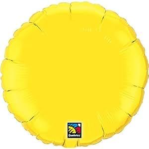 Ballon mylar rond jaune Ballon Taille 18 (45 cm) à la pièce