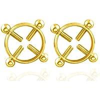 Clip en el cuerpo Ninguno Pierce Ring Escudos de mujer con círculo ajustable (2 piezas, color aleatorio)