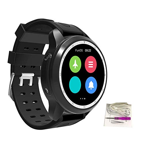 Colinsa 16GB 4G Smartwatch für Android IOS, IP67 Wasserdicht, 1.3inch Kreisförmiger Bildschirm, 620mAh, Bluetooth4.0, GPS, Herzfrequenz, Wählen, Zahlung